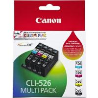 Canon CLI-526 MULTIPK Ink Cartridge Value Pack - Black, Cyan, Magenta, Yellow