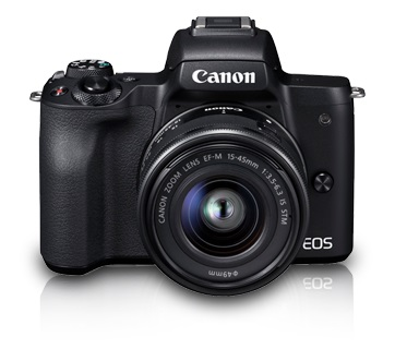 Canon EOS M50 24.1 Megapixel Mirrorless Digital Camera with 15-45 STM Lens & 55-200 STM Lens