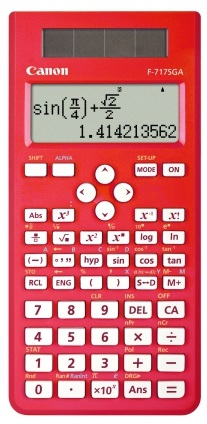 Canon F717SGA Red Scientific Calculator - 242 Function
