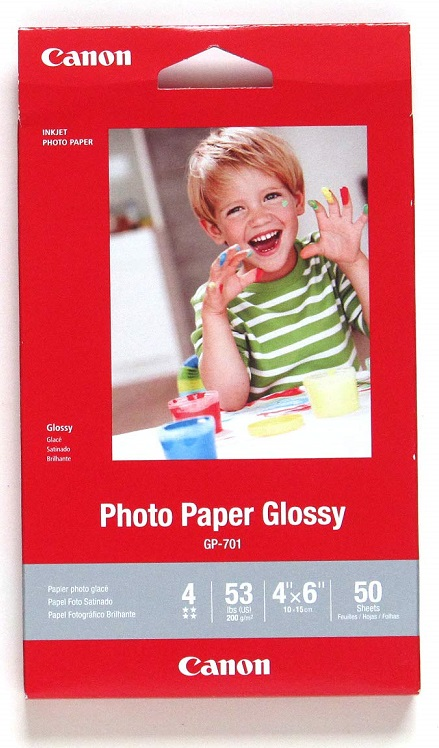Canon GP-701 4x6 Glossy 102x152mm 200gsm Photo Paper - 50 Sheets