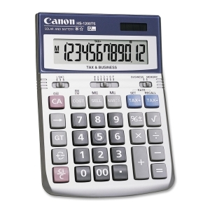 Canon HS1200TS 12 Digit Desktop Calculator with Tax Function