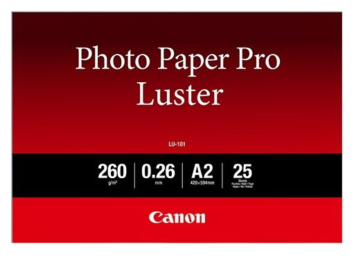 Canon LU-101 A2 260gsm Photo Paper Pro Luster - 25 Sheets