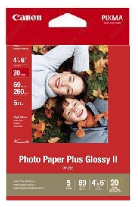 Canon PP2014x6 Glossy 4x6 260gsm Photo Paper - 20 Sheets
