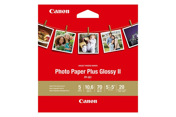 Canon PP-301 Glossy 4x6 265gsm Photo Paper Plus II - 20 Sheets