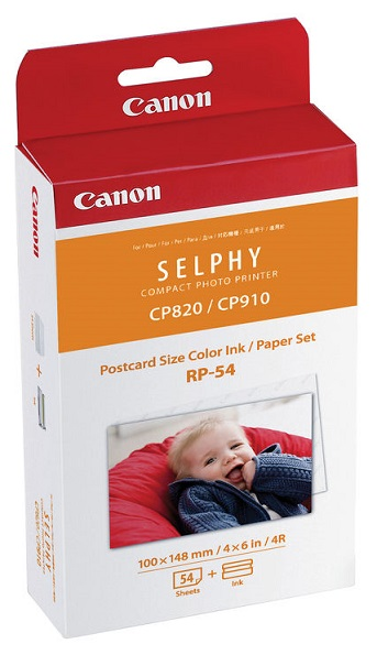Canon RP-54 High Capacity Colour Ink & Paper Kit - 54 Sheets