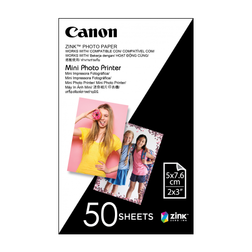 Canon ZINK Photo Paper for Mini Photo Printer - 50 Sheet Pack