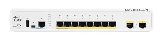 Cisco Catalyst 2960C 8 Ports Manageable PoE 10/100/1000Base-T Ethernet Switch