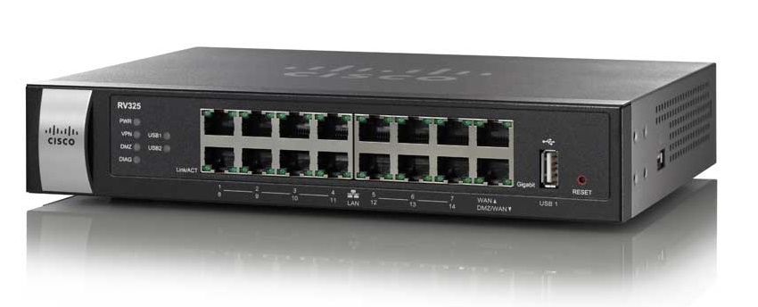 Cisco RV325 Router 16 Ports Desktop
