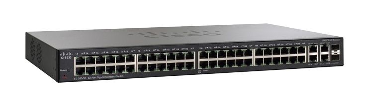 Cisco SG300-52MP 52 Ports Manageable Layer 3 Switch 52 x POE+ 2 x Expansion Slots 10/100/1000Base-T