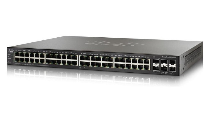 Cisco SG350X-48 48-Port Gigabit Managed Switch + 4 x SFP+