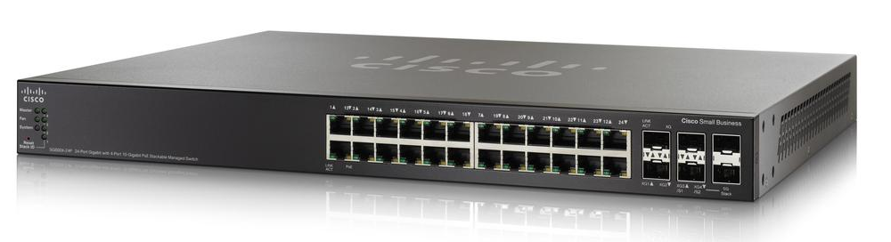 Cisco SG500X-24P 24 Ports Manageable Layer 3 Switch 24 x RJ-45 PoE Ports Stack Port 4 x Expansion Slots 10/100/1000Base-T