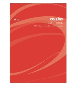 Collins A5 Goods Order Duplicate NCR Book - 100 Leaf