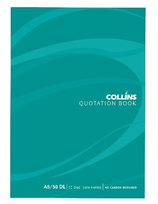 Collins 250x200mm Quotation Duplicate NCR Book - 50 Leaf
