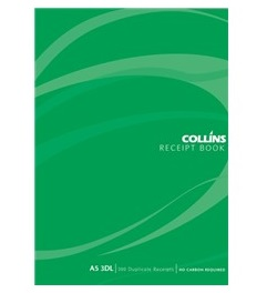 Collins A5 3 Per Page Receipt Duplicate NCR Book - 100 Leaf