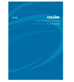Collins A5 Tax Invoice Duplicate NCR Book - 100 Leaf