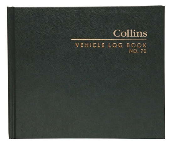 Collins Hardcover Business Vehicle Log Book - 65 Leaf