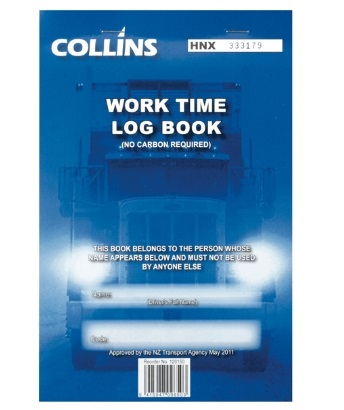 Collins A5 Business Work Time Log Book - 50 Triplicate Pages