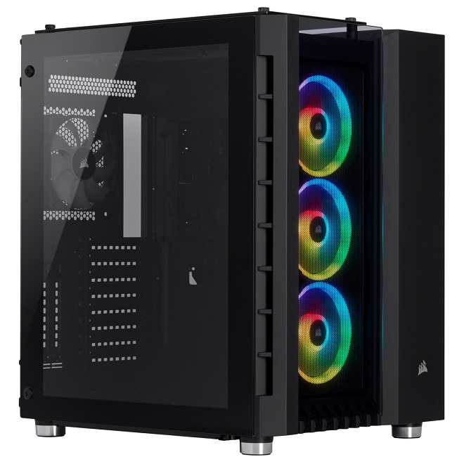 Corsair Crystal Series 680X RGB Mid Tower Case with Tempered Glass Panel - Black
