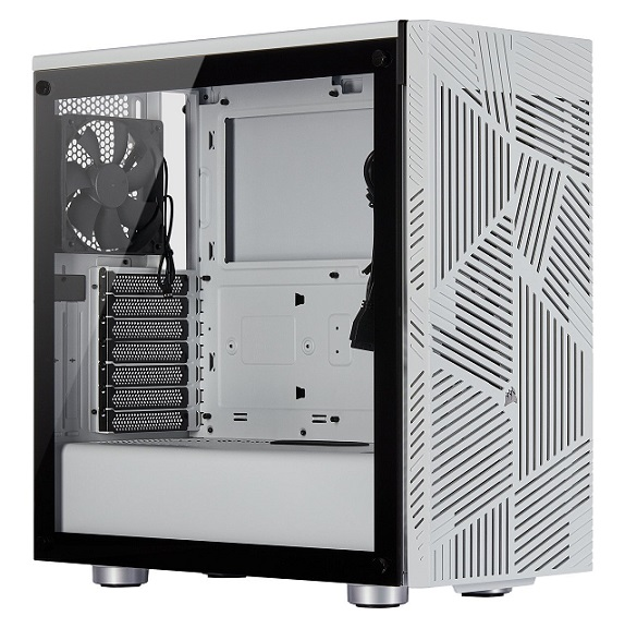 Corsair 275R ATX Mid-Tower with Airflow Tempered Glass Panel – White