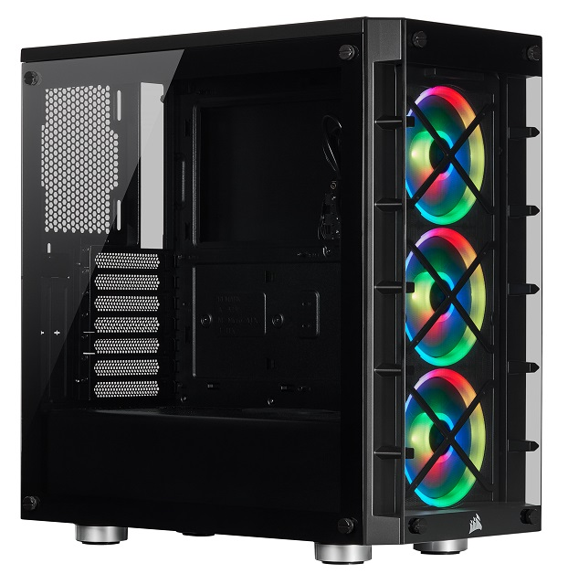 Corsair iCUE 465X RGB Mid Tower Smart Case with Tempered Glass Panel - Black