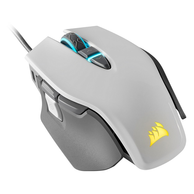 Corsair M65 RGB ELITE Tunable 18000 DPI Wired Gaming Mouse - White
