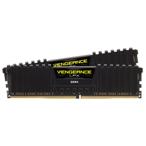 Corsair Vengeance LPX 8GB (2x 4GB) DDR4 3000Mhz DIMM Memory with Heat Spreader - Black
