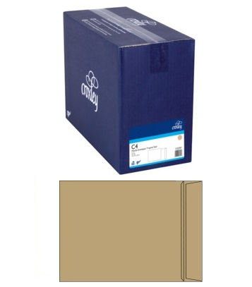 Croxley C4 Pocket Non-Window Seal-Easi 100gsm Manilla Envelope - 250 Pack