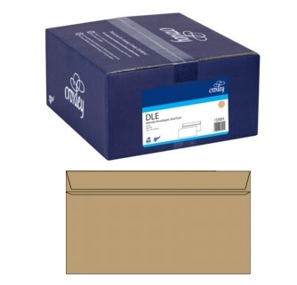 Croxley DLE Non-Window Seal-Easi Manila Envelope - 500 Pack