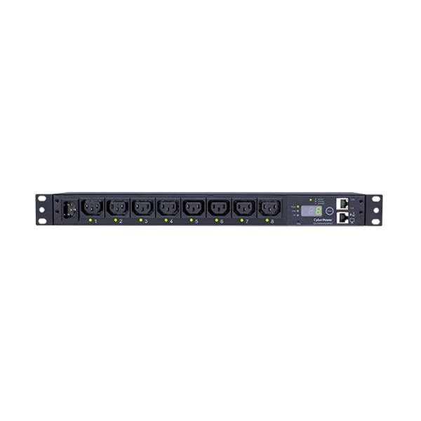 CyberPower Switched Series 8 Outlet 1RU Vertical Horizontal Power Distribution Unit