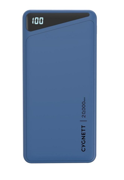 Cygnett ChargeUp Boost 2 20000mAh 3 Port USB-A & USB-C Powerbank with 45W Laptop Power Delivery - Blue