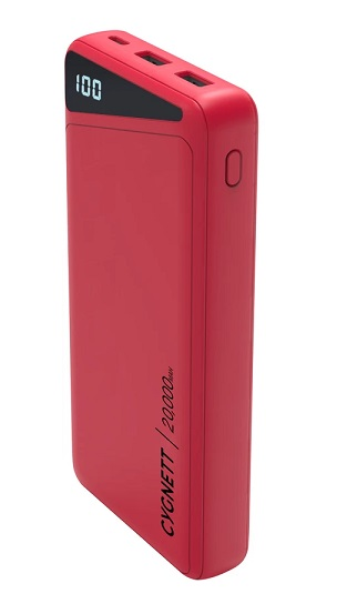 Cygnett ChargeUp Boost 2 20000mAh 3 Port USB-A & USB-C Powerbank with 45W Laptop Power Delivery - Red