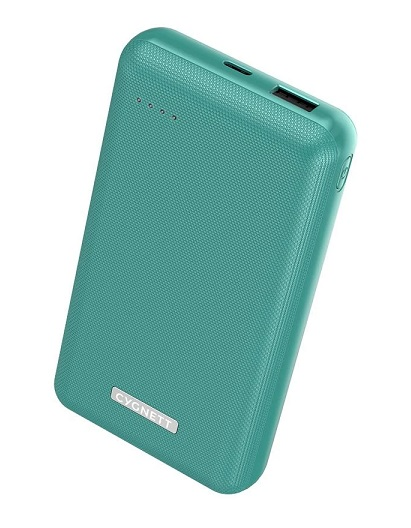 Cygnett ChargeUp Reserve 20000mAh Dual Port USB-A & USB-C Powerbank with 18W Fast Charging - Jade Green