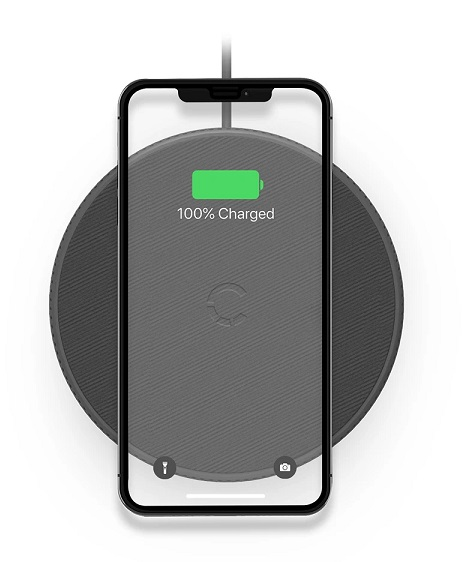 Cygnett Powerbase II 10W Wireless Desk Phone Charger - Black