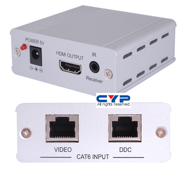 CYP HDMI Cat6 Receiver with IR HDCP 1.1 & DVI 1.0 HDMI 1.3, compliant