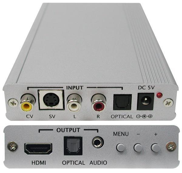 CYP RCA/S-Video (CV/SV) to HDMI 1080p Scaler Box HDMI 1.2, HDCP 1.1 & DVI 1.0 compliant