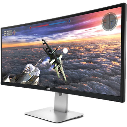 Dell UltraSharp U3415W 34 Inch 3440 x 1440 8ms sRPG IPS Monitor with Speakers & USB Hub - DisplayPort HDMI