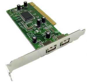 2 Port PCI USB 2.0 Add On Card - With Low Profile Bracket