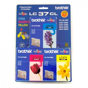 Brother LC37 Colour Ink Cartridge Value Pack - Cyan, Magenta & Yellow