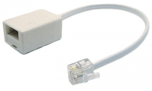 Dynamix 80mm Cable-BT Socket to RJ-11 Plug (for Phone to Modem Connection)