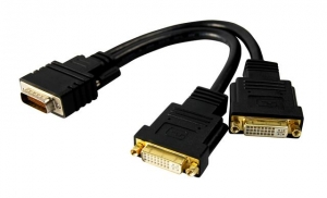 Dynamix DMS59 Male to Dual DVI D Female Y Cable, 260mm Length
