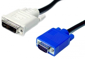 Dynamix 2M DVI-A (12+5) Male to VGA Male Cable