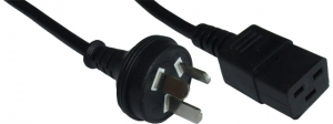 Dynamix 2m 3 Pin Plug to C19 Female SAA Approved Power Cord Cable