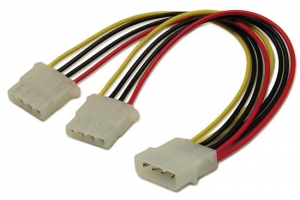 Dynamix 14cm LP4 Molex to 2x LP4 Molex Splitter Cable