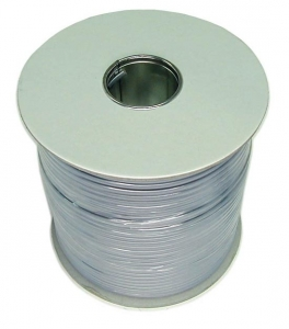 Dynamix 300M Roll 4 Wire Flat Cable. Silver colour supplied on a reel