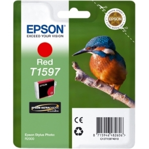 Epson T1597 Red Ink Cartridge for Stylus Photo R2000