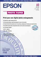 Epson S041142 A3 Photo Paper Glossy 20 Sheets
