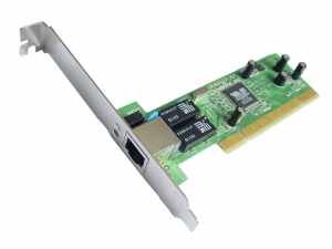 SMC 32-bit Gigabit Ethernet Adapter 10/100/1000Mbps. Supports Jumbo frames, IEEE802.1Q VLAN and 802.1p QoS, PCI