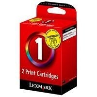Lexmark #1 Tri-colour Ink Cartridge - Twin Pack