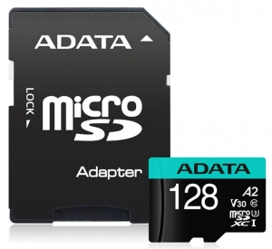 ADATA Premier Pro 128GB Class 10 UHS-I U3 V30 microSDHC Card with Adapter