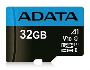 ADATA 32GB Premier microSDHC UHS-I Class 10 A1 V10 Card with Adapter